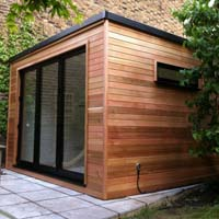 Garden rooms clear wood carpentry